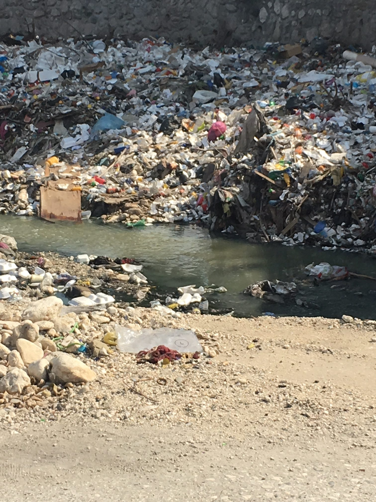 Plastic and Waste leaking in River